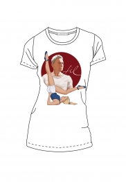 """Joe"" T-Shirt mit Joseph Pilates Motiv - Slim-Fit"